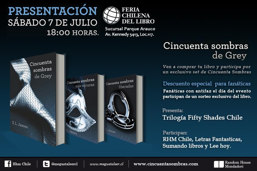 """Presentación """"Cincuenta Sombras de Grey"""" en Chile"""