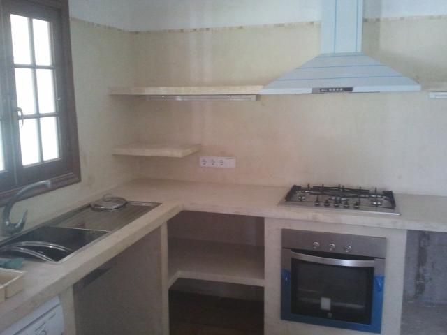 Reformas julio camarena cocina con cemento pulido for Cocinas enchapadas