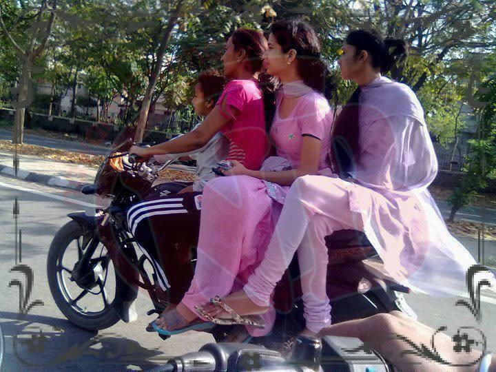 Tamil Funny girls on bike