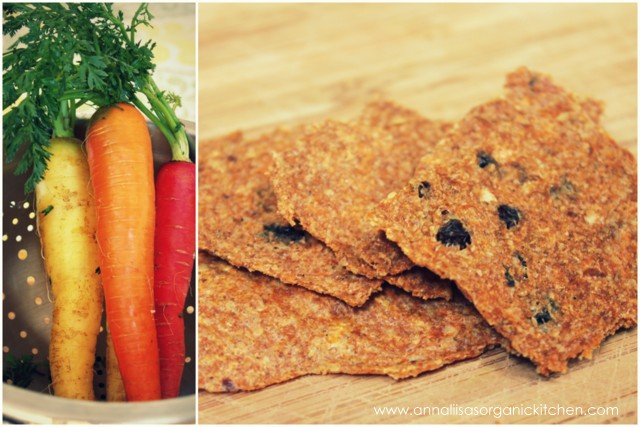 raw carrot juice pulp dehydrated crackers