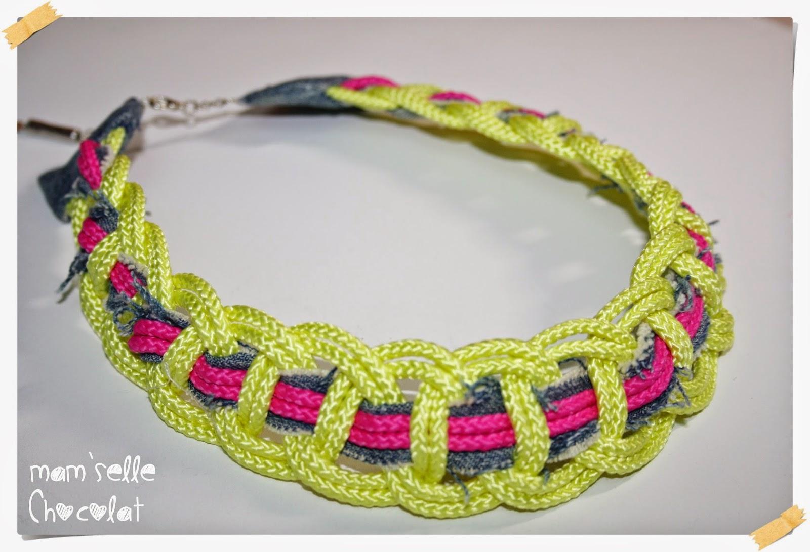 Collar Trenzado con Cuerdas - Técnica de Nudos