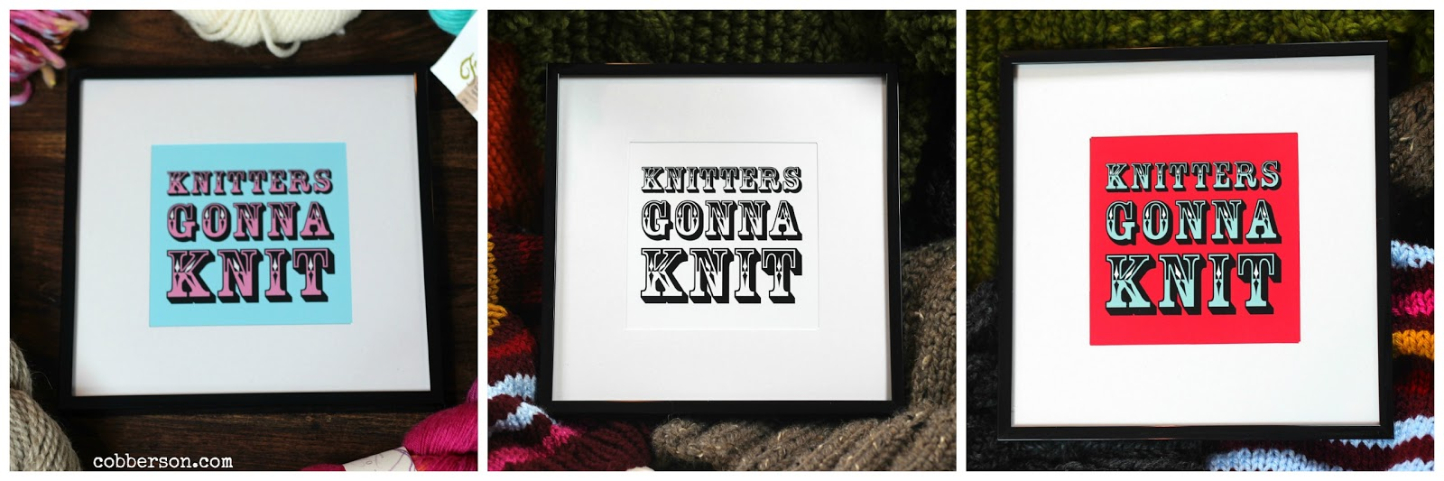 Cobberson Knitters Gonna Knit prints