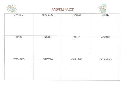 calendario plano de aula