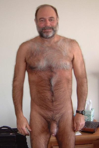 Furry Dad Men Gay Hairy Chested Uncut Cock