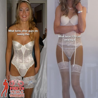 The difference between real men and you - Star TG Captions - Sissy crossdressing tales