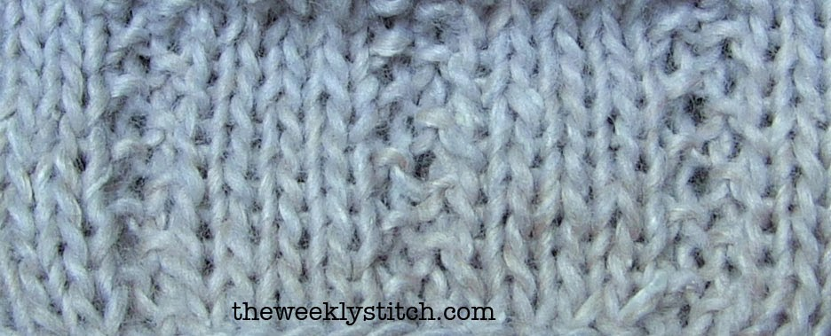 Knitting Fancy Rib Stitches : October 2013 The Weekly Stitch
