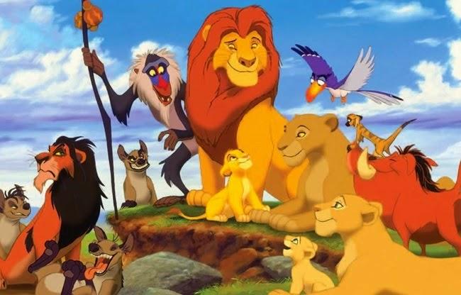 Longa metragem de 1994 o Rei Leão.