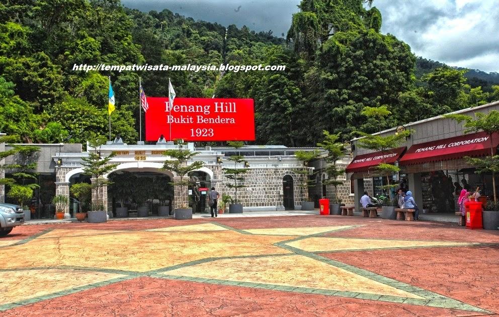 gambar wisata penang hill bukit bendera