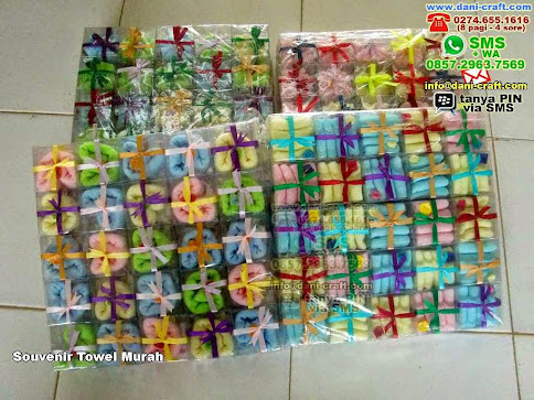 Souvenir Towel Murah Handuk Kab Karawang