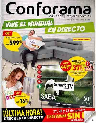 ofertas conforama tv junio 2014