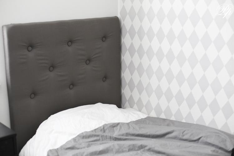 sänggavel barn ~ pinglans pärlor gossens nya sänggavel