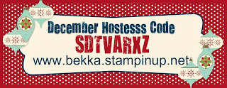 Shop at www.bekka.stampinup.net and use this code before December 30 2013