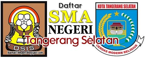 Alamat SMA Negeri di Tangerang Selatan