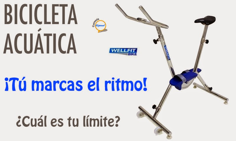 BICICLETA WELLFIT: Wellfit bike es una bicicleta estática acuática - Guadalajara, Espool Piscinas. Pide más información en info@espoolpiscinas.com