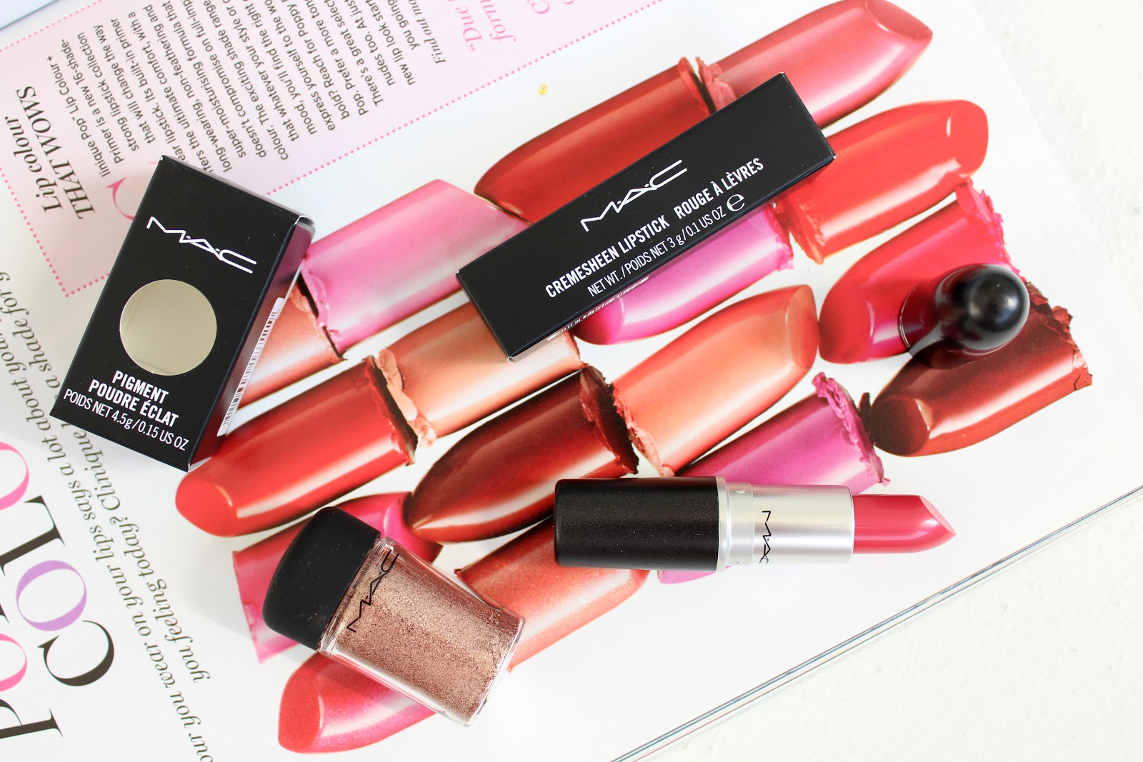 MAC Tan Pigment Review, MAC Speak Louder Cremesheen Lipstick Review