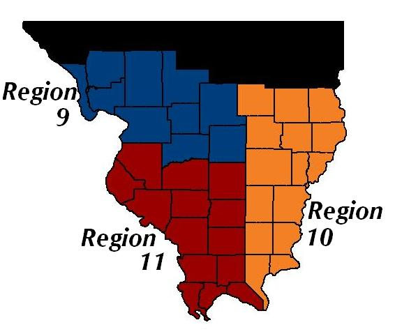 Southern Illinois HSTP's 39 Counties and Three substate Regions