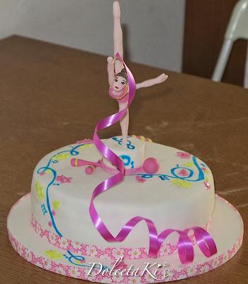 ginnasta ritmica pasta di zucchero