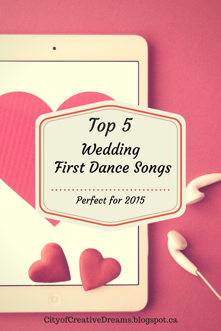 top 5 wedding first dance songs