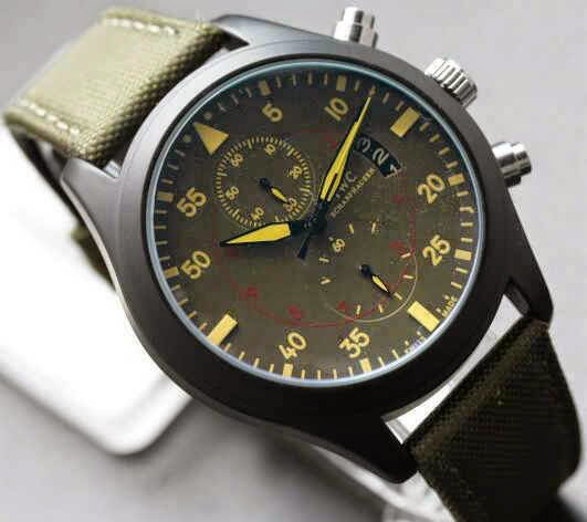 IWC Pilot's Watch Hijau Tua