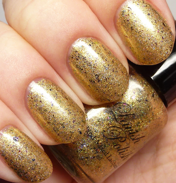 Lavish Polish Golden Mermaid