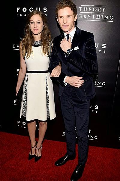 Eddie Redmayne and his girlfriend Hannah Bagshawe