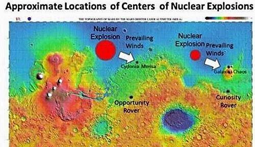 explosiones nucleares en marte