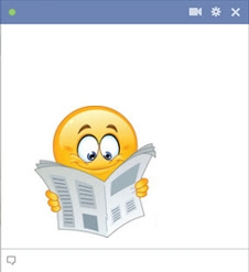 emoticon Facebook membaca