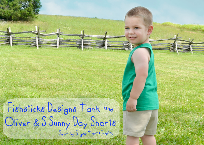 Fishsticks Designs Tank Top and Oliver & S - Sunny Days shorts