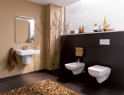 cuarto de baño marron