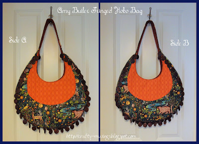 Fringed Hobo Bag, front and reverse views