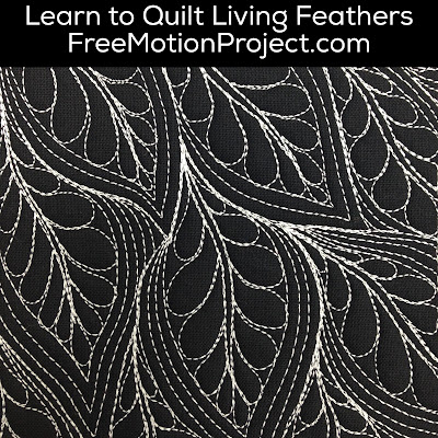 Machine Quilt Living Feathers 454 Free Motion