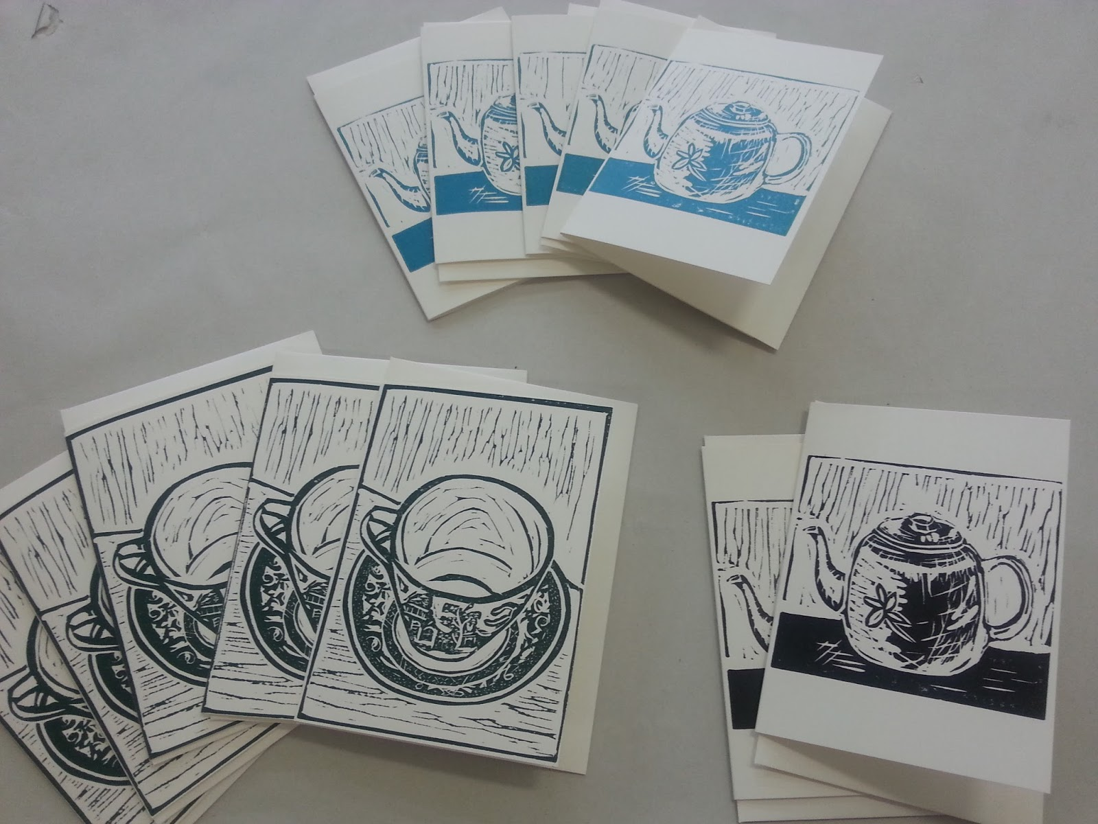 Jo lankester brush press studio hand printed greeting cards relief prints silkcut lino kristyandbryce Images