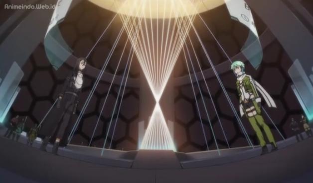 Kirito dan Sinon Sword Art Online II Episode 7