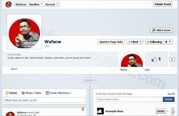 wafacw facebook page screen shot