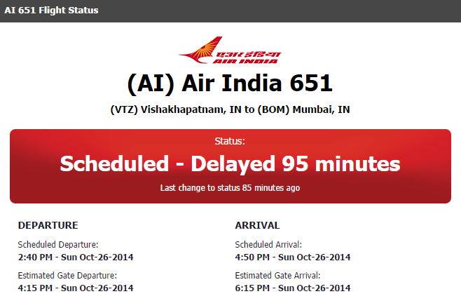 AI 651 DELAYED DEPARTURE VIZAG AIRPORT