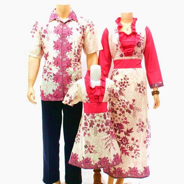 SK040 Model Baju Sarimbit Batik Modern Terbaru 2014