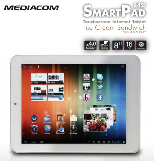 Tablet Mediacom ics smartpad842i