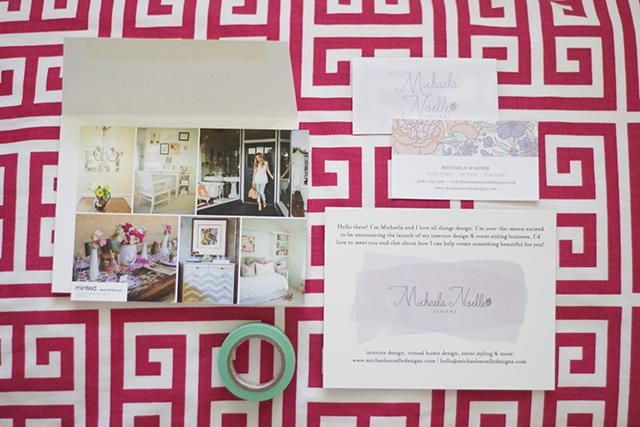 Business Announcement Cards Michaela Noelle Designs