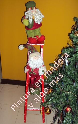 Pintura en madera y algo mas adornos de navidad for Escaleras de adorno