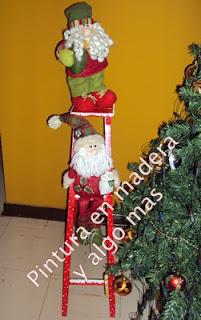 Pintura en madera y algo mas adornos de navidad for Adornos navidenos para escaleras