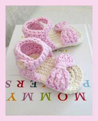 free crochet pattern baby summer sandals
