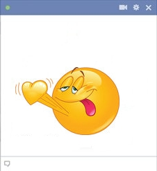 Facebook Smiley Face in Love