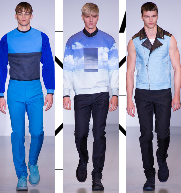 calvin klein mens spring 2014 cloud sweater and crocodile vest
