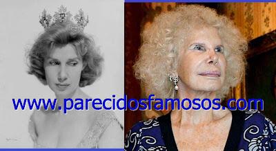 Duquesa de Alba  antes y después