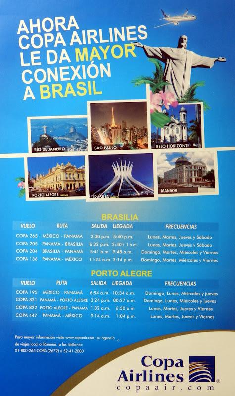 Vuelos de COPA a Ciudades de brasil