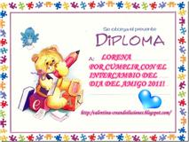 Certificado Inter Día del Amigo!!!!!