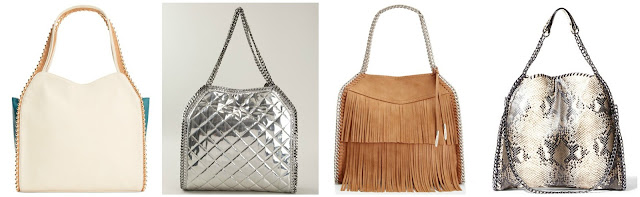One of these bags is from Stella McCartney for $1,530 and the other three are under $100. Can you guess the designer bag? Click the links below to see if you are correct.