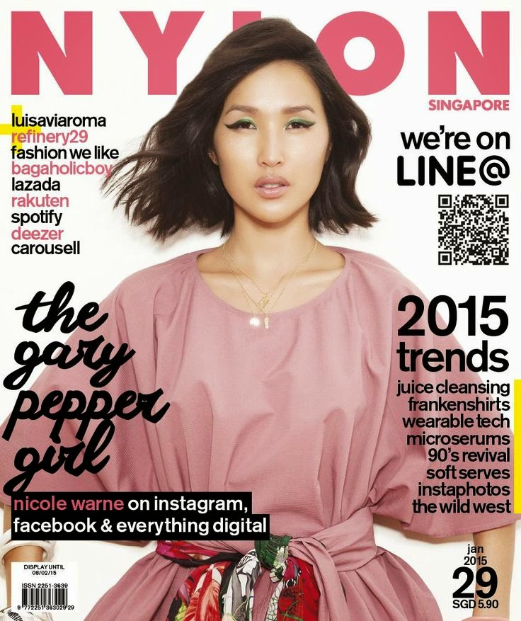 Nicole Warne - Nylon, Singapore, January 2015