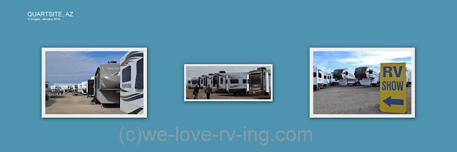 Photos of different RV's in the show