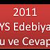 2011 LYS Edebiyat Soruları (Word Dosyası)